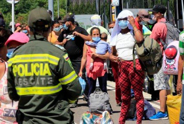 Migrantes venezolanos en Colombia (EFE/ Mario Caicedo/Archivo)
