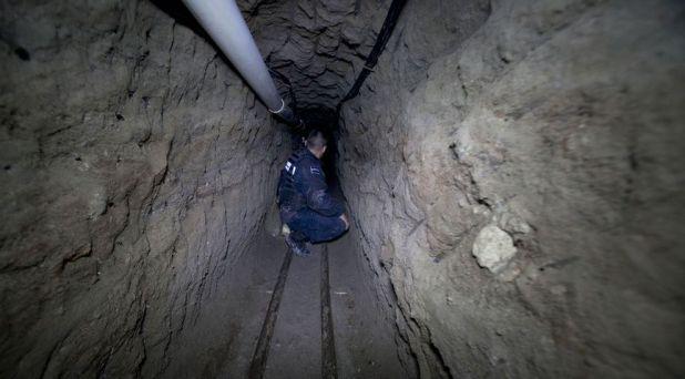 El túnel por el que el capo escapó de la cárcel de máxima seguridad de La Palma (Foto: Cuartoscuro)