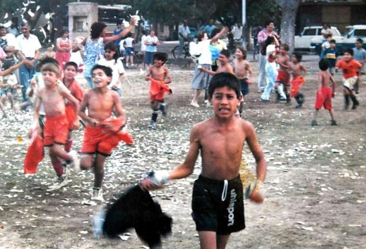 Esteban Andrada cuando tenía 7 años y jugaba en el club Junín de Mendoza (Gentileza Diario Los Andes de Mendoza)