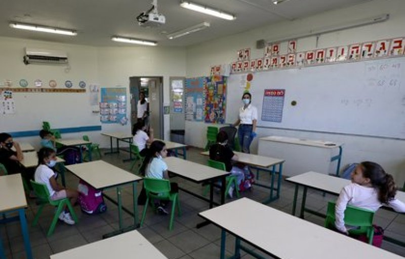 Estudiantes en la colonia israelí de Maale Adumim en la Cisjordania (REUTERS/Ammar Awad)