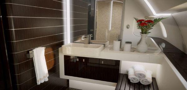 Un baño cómodo y funcional