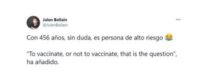 """""""Vacunarse o no vacunarse, esa es la cuestión"""""""
