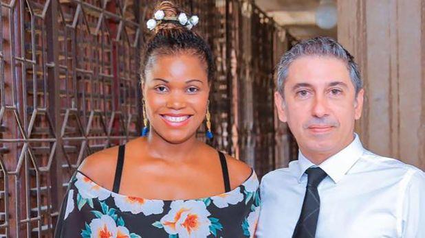 Fernando Morales en una foto junto a su esposa. Ahora sus hijos serán repatriados