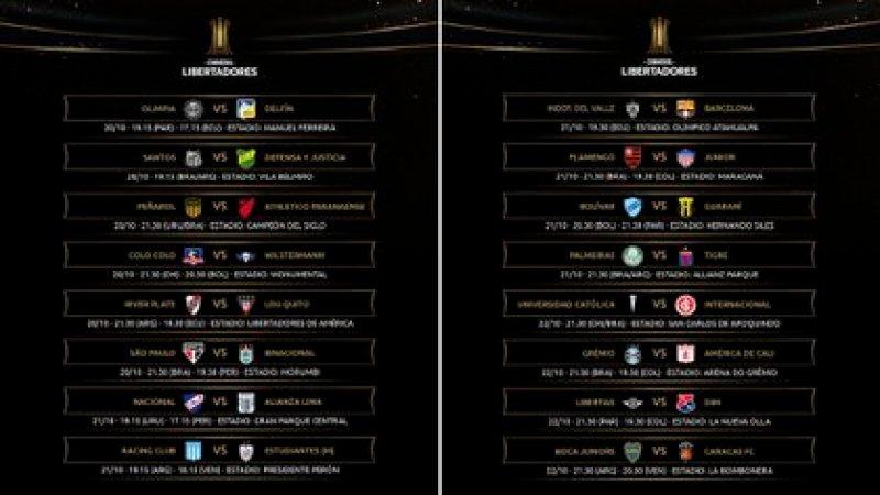 Así se desarrollará la sexta jornada de la fase de grupos de la Copa Libertadores