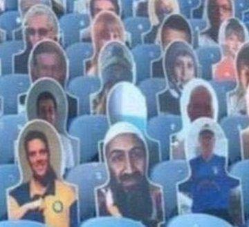 Osama Bin Laden en la tribuna del Leeds