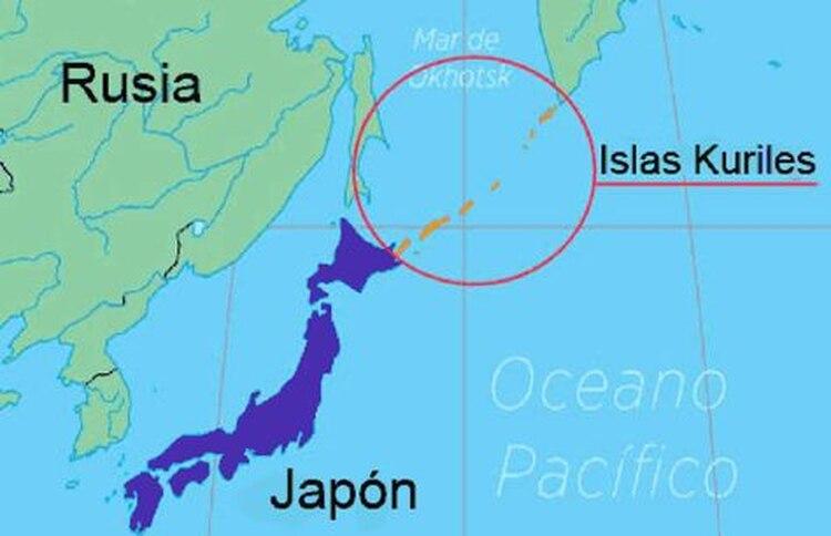 Rusia denomina a estos como Islas Kuriles