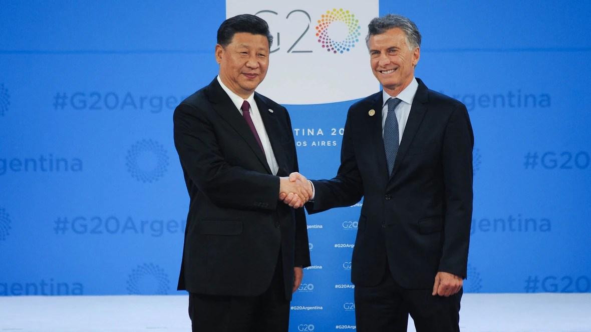 Mauricio Macri junto al presidente chino Xi Jimping (Manuel Cortina)