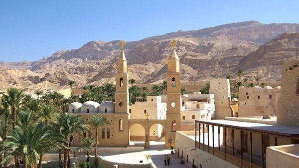 El Monasterio de San Samuel, lugar al que se dirigían los cristianos que fueron atacados