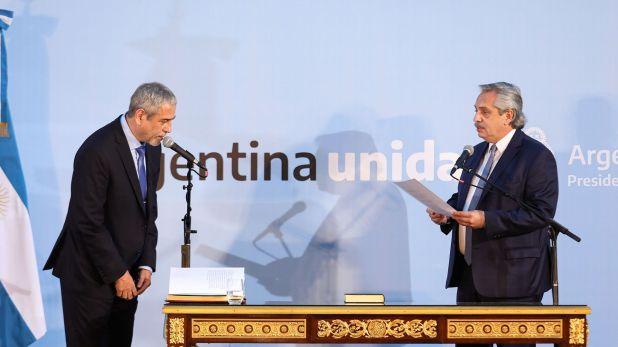 Alberto FErnandez le tomó juramento a Jorge Ferraresi como ministro de Desarrollo Territorial y Hábitat