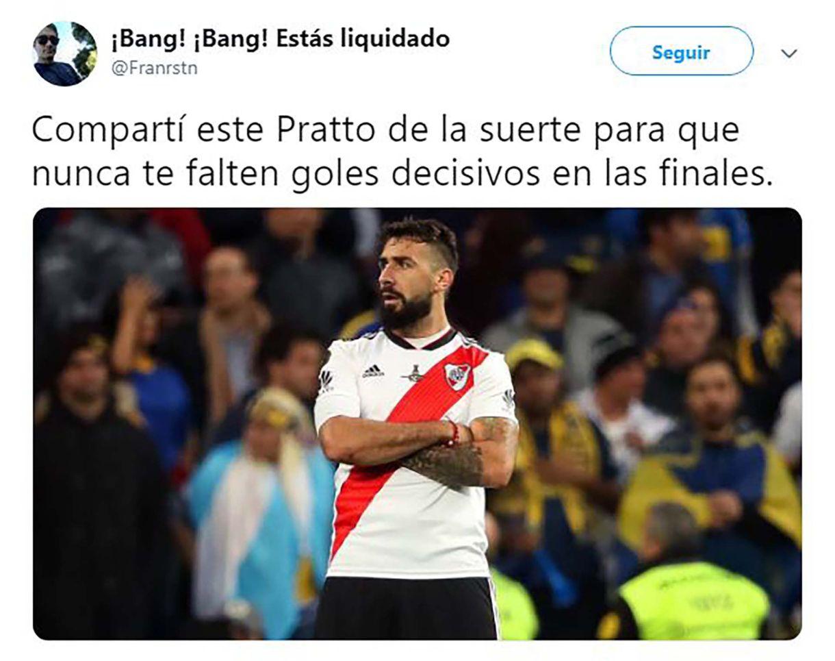 Lucas Pratto fue una de las figuras. Muchos recordaron su gran actuación en la final disputada en Madrid ante Boca