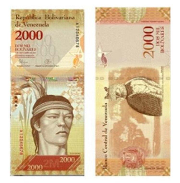 El billete de 2000 bolívares