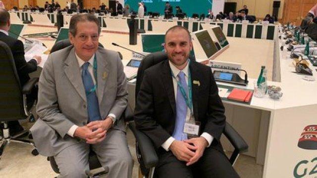 Miguel Pesce y Martín Guzmán en el G20 de Finanzas en Arabia Saudita