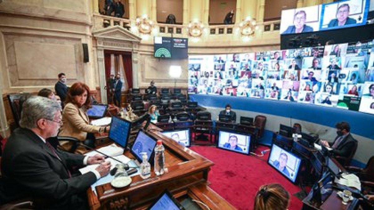 La vicepresidente durante el inicio de la sesión (foto: Charly Diaz Azcue / COMUNICACIÓN SENADO)