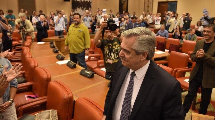 Fernández en el Congreso de España