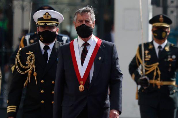 El presidente de Perú, Francisco Sagasti. EFE/ Paolo Aguilar/Archivo