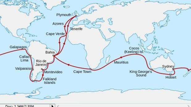 El viaje durante 5 años de Charles Darwin alrededor del mundo