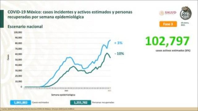 Distribución casos estimados (Foto: SSA)