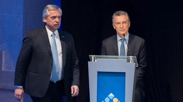 Alberto Fernández cuestionó a Macri sobre la política exterior sobre Malvinas en el debate presidencial (Adrián Escandar)