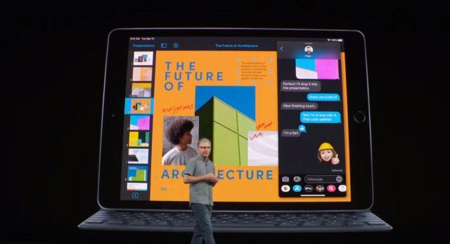El iPad ntegra una pantalla Retina de 10,2 pulgadas, chip A10 Fusion, conector inteligente para utilizar con teclado, cámara de 8 MP y hecha con aluminio 100% reciclado.