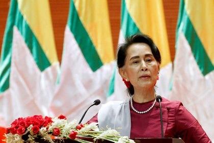 La líder política y ex consejera de Estado Aung San Suu Kyi (REUTERS/Soe Zeya Tun/Archivo)