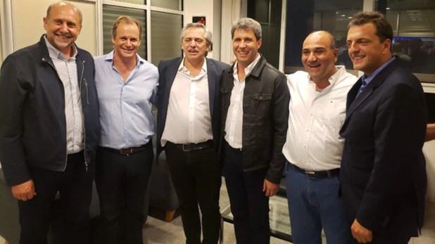 Alberto Fernández, con los gobernadores Perotti, Bordet, Uñac y Manzur y con Sergio Massa