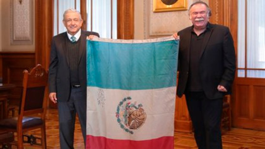 Andrés Manuel López Obrador met with Jesús Ochoa to remember what happened in 2006 (Photo: Andrés Manuel López Obrador) / Twitter.