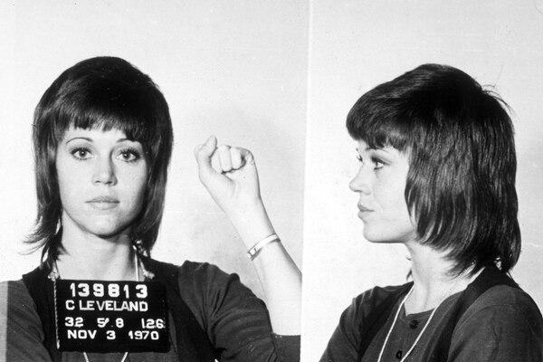 Jane Fonda fue detenida en un aeropuerto de Ohio en 1970 (De dominio publico)