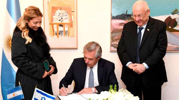 Alberto Fernández visitó al Presidente de Israel, Reuben Rivlin