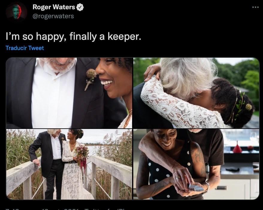 Boda Roger Waters (Foto: Twitter@rogerwaters)