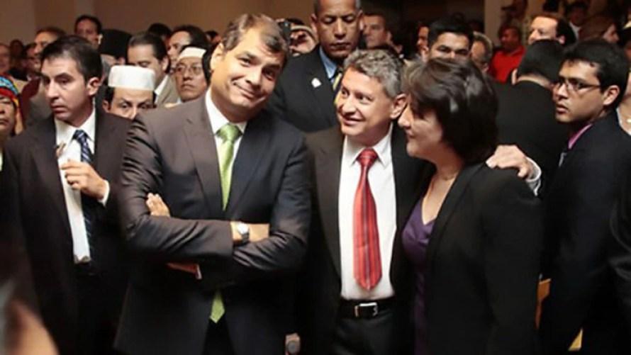 Rafael Correa y Pedro Delgado (Imagen de archivo)