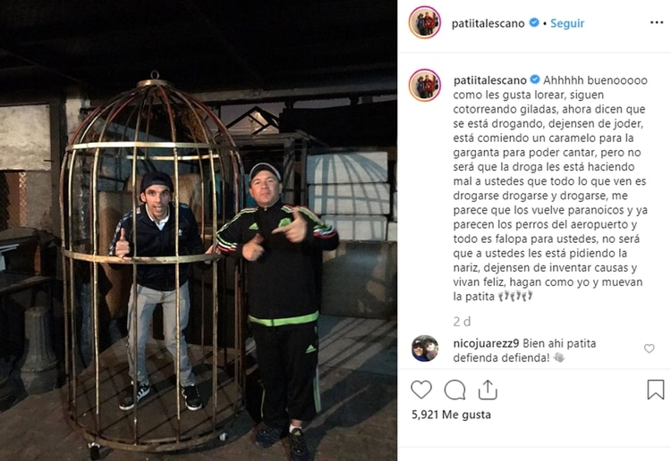 El posteo de Patita Lescano