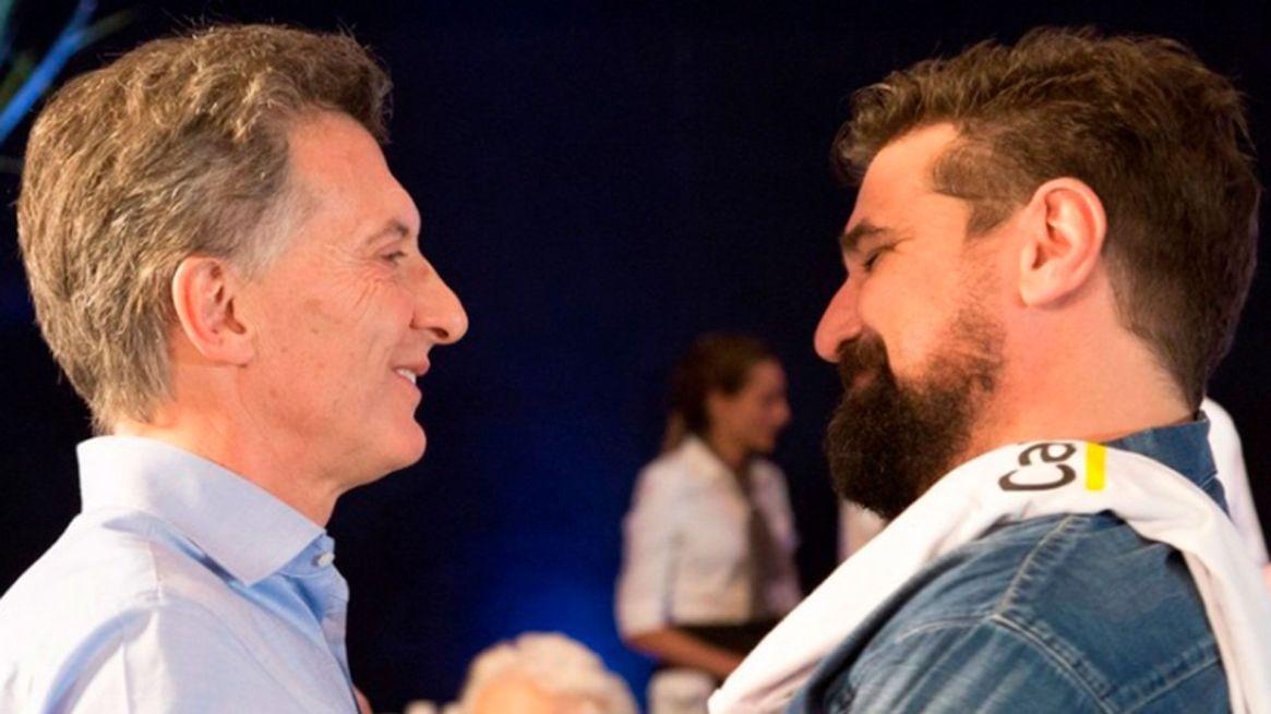 Mauricio Macri y su publicista Joaquín Molla