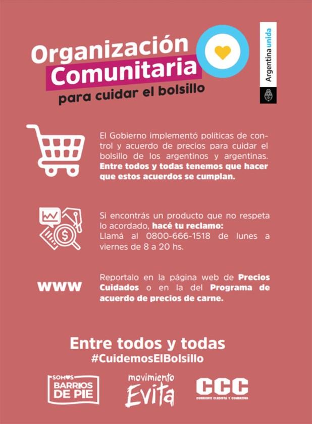 Flyer campaña en supermercados por control de precios