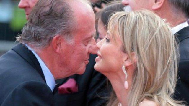 El rey Juan Carlos junto a su ex amante, Corinna