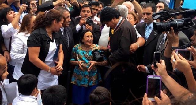 Evo Morales, en un encuentro con residentes bolivianos en Buenos Aires, en abril pasado