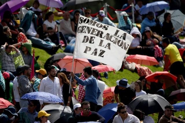 Claudia López realizó su acto de asunción en la plaza Simón Bolívar (REUTERS/Luisa Gonzalez)