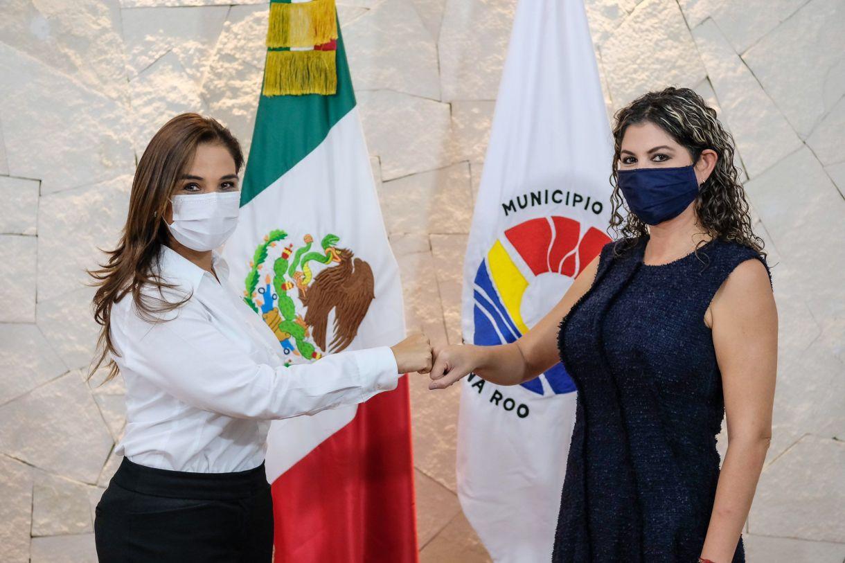 Flor Ruíz Cosío asumió la titularidad de la Secretaría de Seguridad de Cancún (Foto: Twitter/MaraLezama)