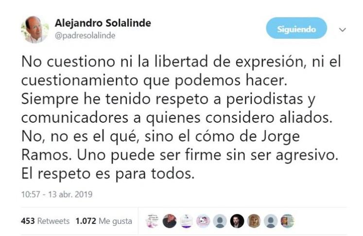 El padre Solalinde mencionó que no está en contra de la libertad de expresión (Foto: Twitter)