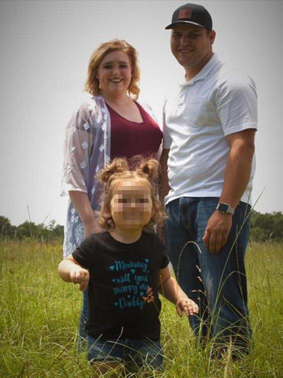 Reagan y su familia (Foto: @Kynlee Grace)