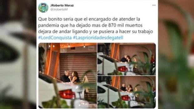 Hugo López-Gatell es captado en una cita romántica sin Sana Distancia (Foto: Twitter @JrobertoM)