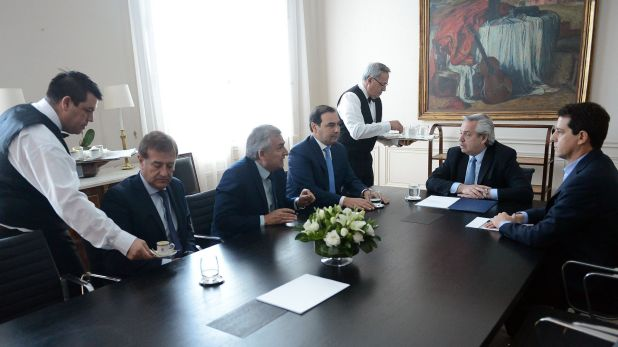 Alberto Fernández recibe a gobernadores radicales