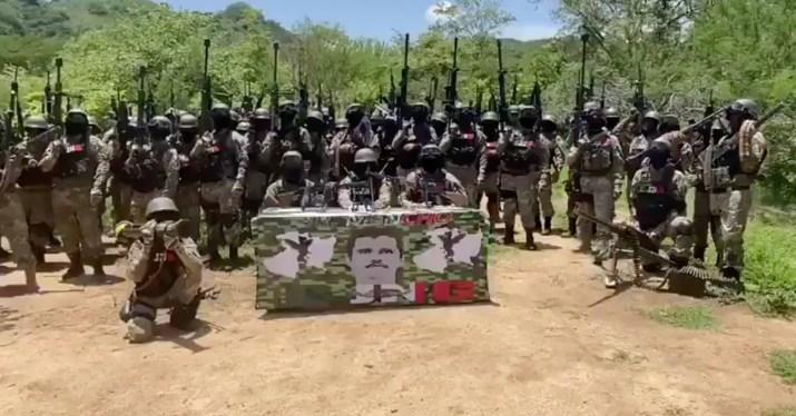 "A nombre del Mencho, el CJNG dirigió un mensaje a ""El Abuelo"" y prometió doblar los sobornos a la Guardia Nacional (Foto: Captura de pantalla)"