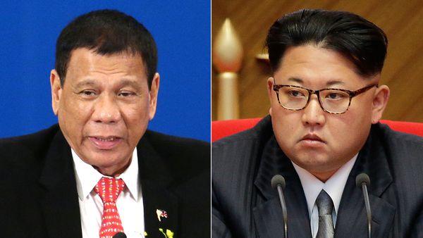 Rodrigo Duterte y Kim Jong-un