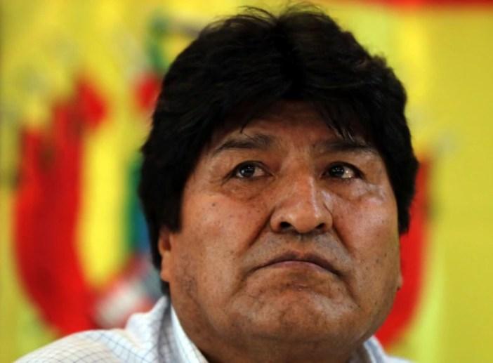 El ex presidente boliviano Evo Morales, durante una reunión del partido Movimiento al Socialismo (MAS), en Buenos Aires. (Reuters/Agustín Marcarian)