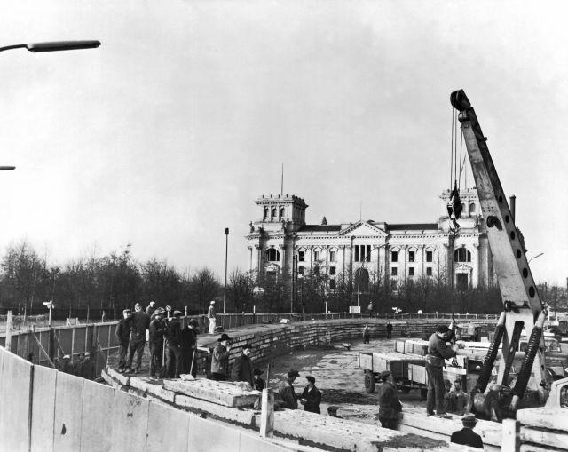 La construcción del muro el 30 de noviembre de 1961