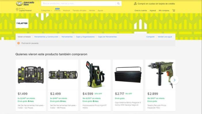 Klatter, la marca de herramientas de Mercado Libre