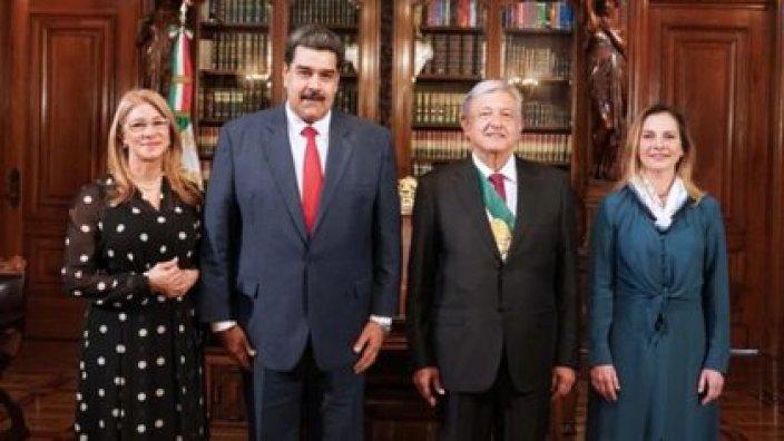 Maduro visitó por unas horas a López Obrador el 1 de diciembre del 2018. (Foto: archivo)