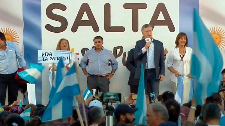 Macri estuvo ayer en Salta en el marco de la campaña