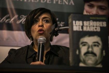 Anabel Hernández dijo que Emma Coronel buscaría regresar pronto con sus hijas y podría aceptar un arreglo (FOTO: RASHIDE FRIAS /CUARTOSCURO.COM)