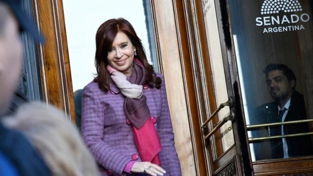 La semana pasada CFK se ausentó porque tuvo una reunión del bloque del FPV (Télam)